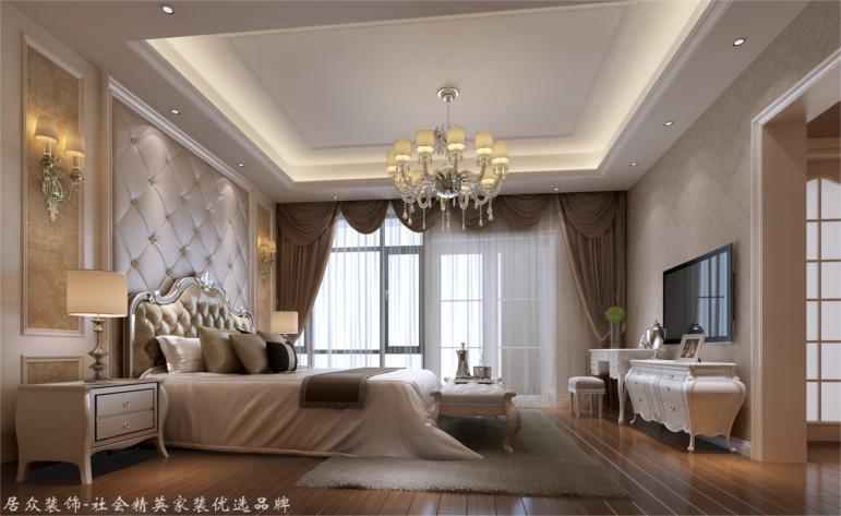 简欧 别墅 卧室图片来自杭州居众装饰集团设计院在赞成良著-简欧风格-310平的分享