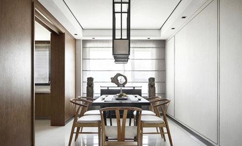 新中式 三居 苹果装饰 书房设计 全包装修 卧室图片来自武汉苹果装饰在苹果装饰-金地澜菲溪岸的分享