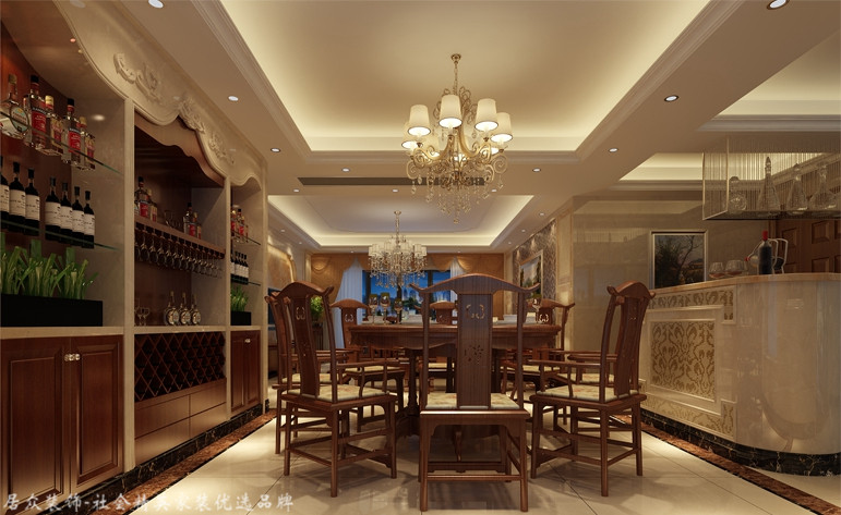 餐厅图片来自昆明居众装饰设计工程有限公司在金江小区-欧式风格-187㎡的分享
