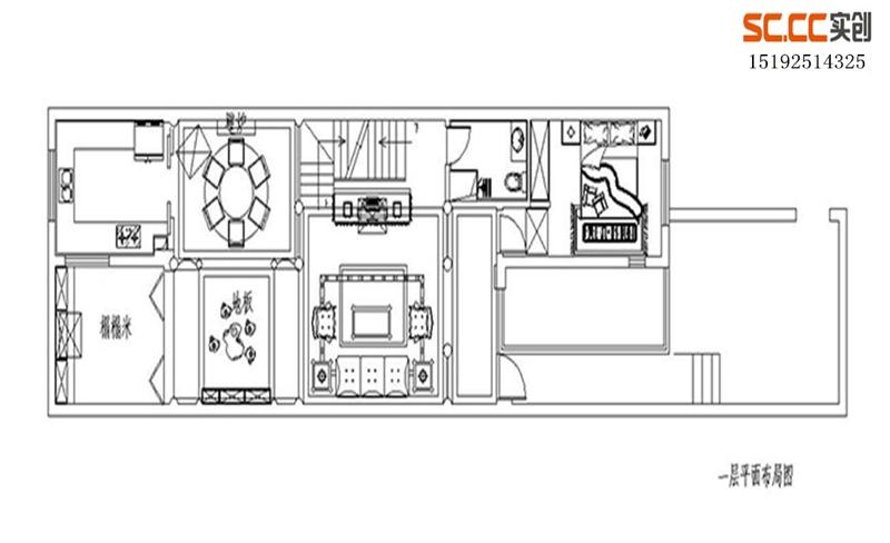 别墅 法式 三居 户型图图片来自快乐彩在龙湖悠山郡251平法式装修的分享