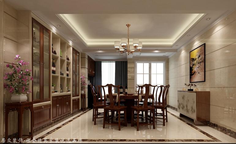 中式 四居 白领 餐厅图片来自杭州居众装饰集团设计院在郁金香岸-中式风格-290平的分享