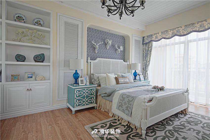 卧室图片来自澳华装饰有限公司在保利华都·清新唯美地中海风格的分享