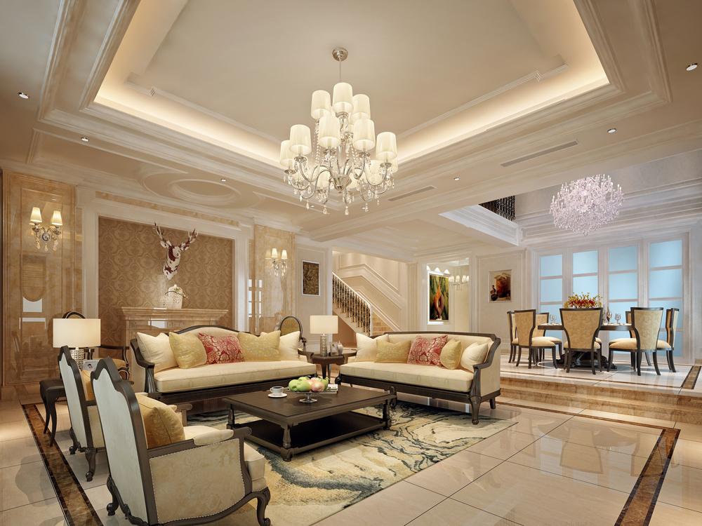 别墅 美式 奢华 客厅图片来自tjsczs88在简美生活的分享