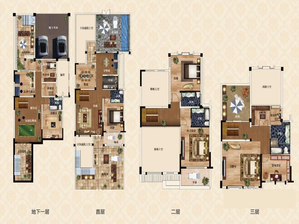 别墅 美式 奢华 户型图图片来自tjsczs88在简美生活的分享