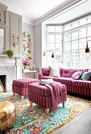 法式混搭典雅时尚的金色室内设计