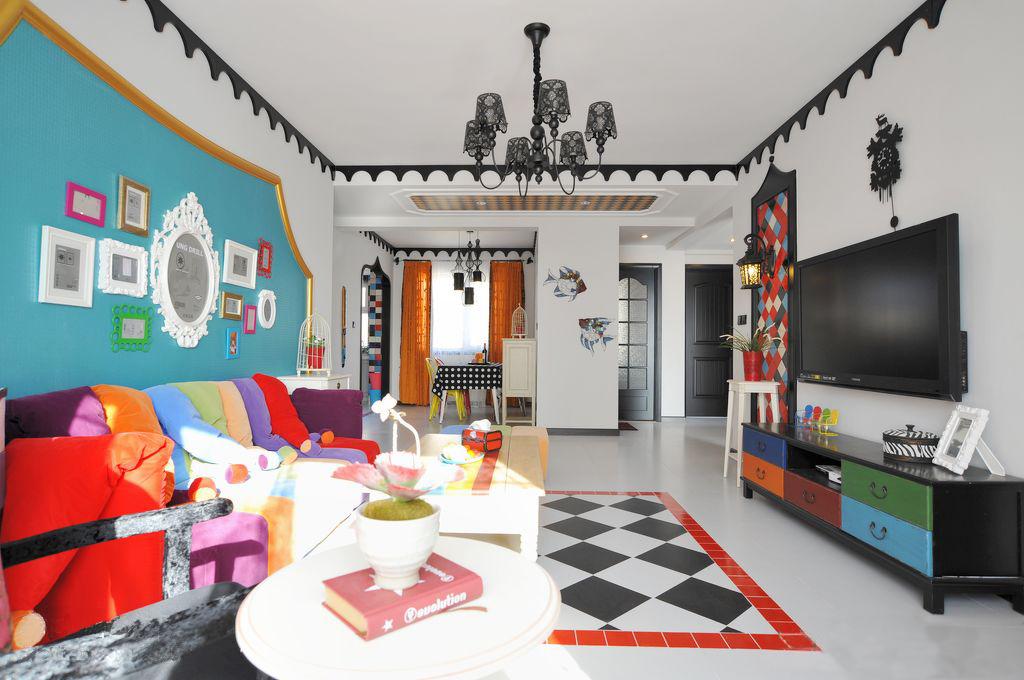 混搭 三居 客厅 卧室 厨房 餐厅图片来自今朝装饰张智慧在混搭童话世界之小女巫的七彩心情的分享