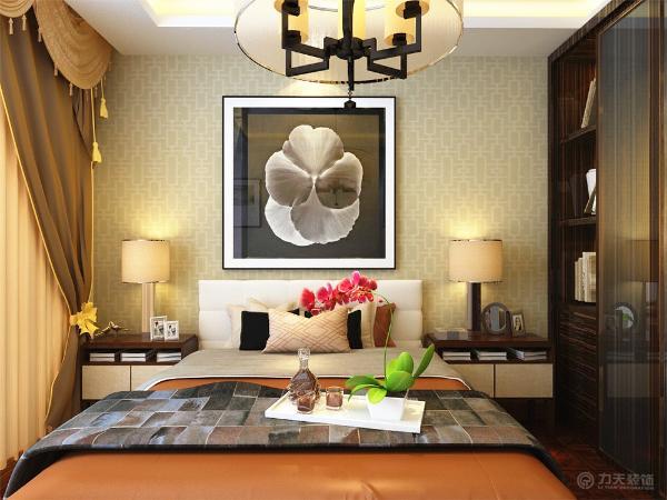 卧室的区域则与安静的氛围相协调,温馨,安静。