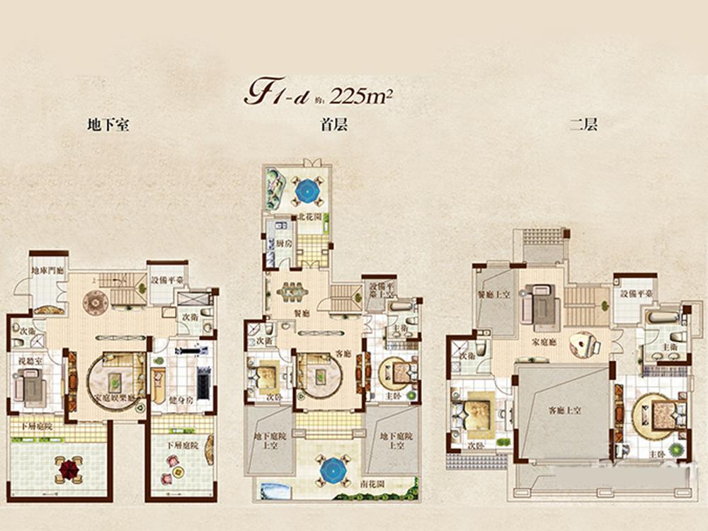 别墅 三居 户型图图片来自tjsczs88在中式奢华表现的分享