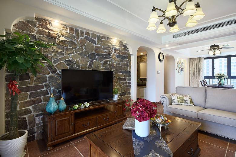 客厅图片来自家装大管家在安静悠闲 126平简美休闲风3居室的分享