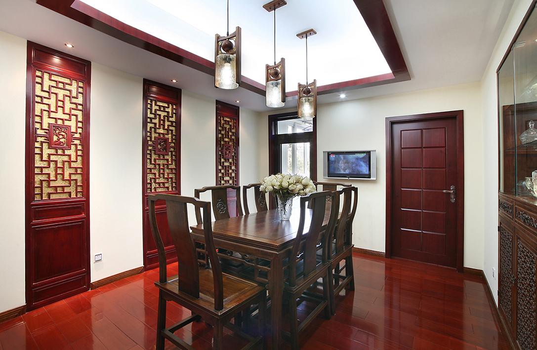 新中式 别墅 收纳 80后 小资 餐厅图片来自北京今朝装饰-慧琳在望园东里200平米新中式的分享