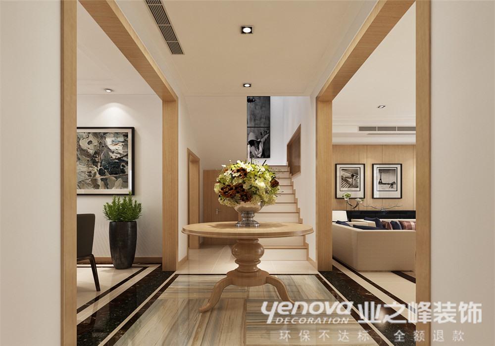 现代简约 别墅 玄关图片来自青岛业之峰官方客服--小万在浪琴海 240平 现代风格的分享