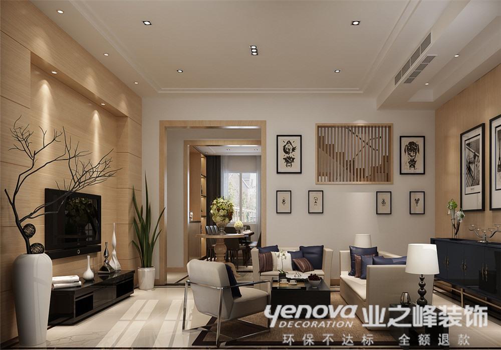 现代简约 别墅 客厅图片来自青岛业之峰官方客服--小万在浪琴海 240平 现代风格的分享