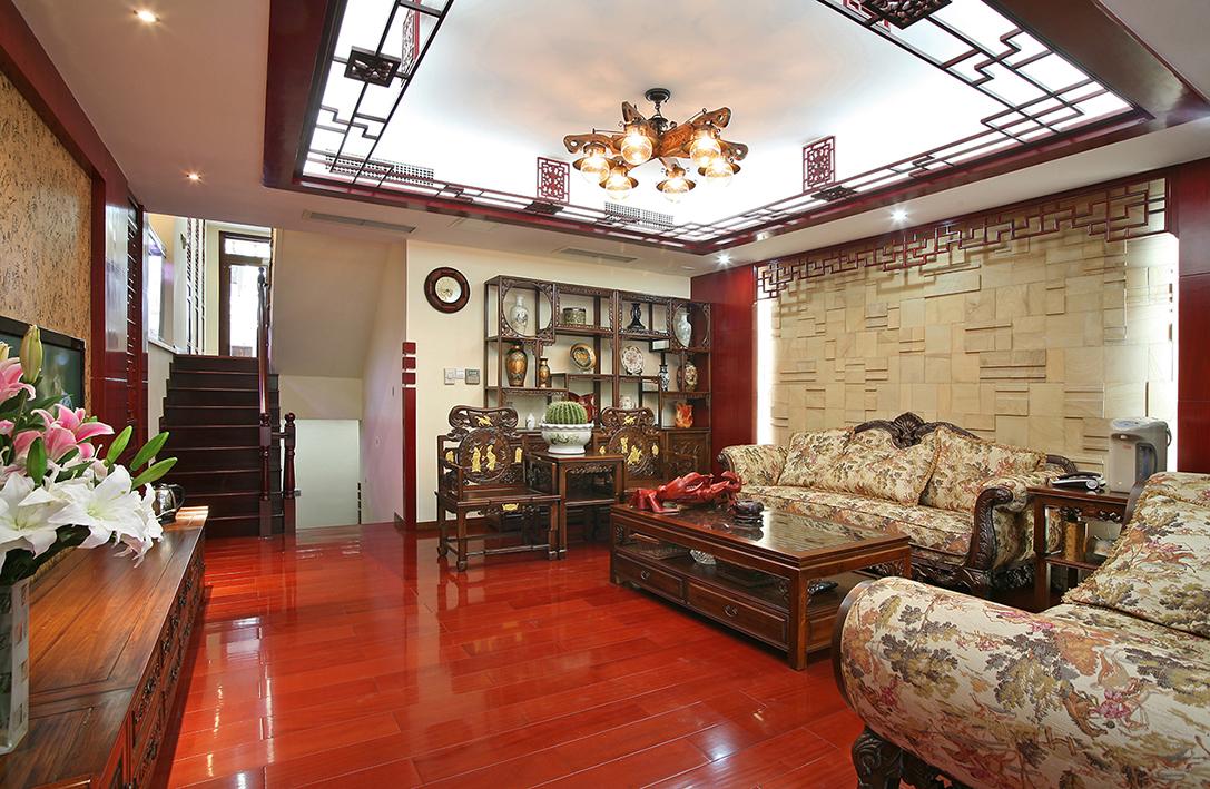 新中式 别墅 收纳 80后 小资 客厅图片来自北京今朝装饰-慧琳在望园东里200平米新中式的分享
