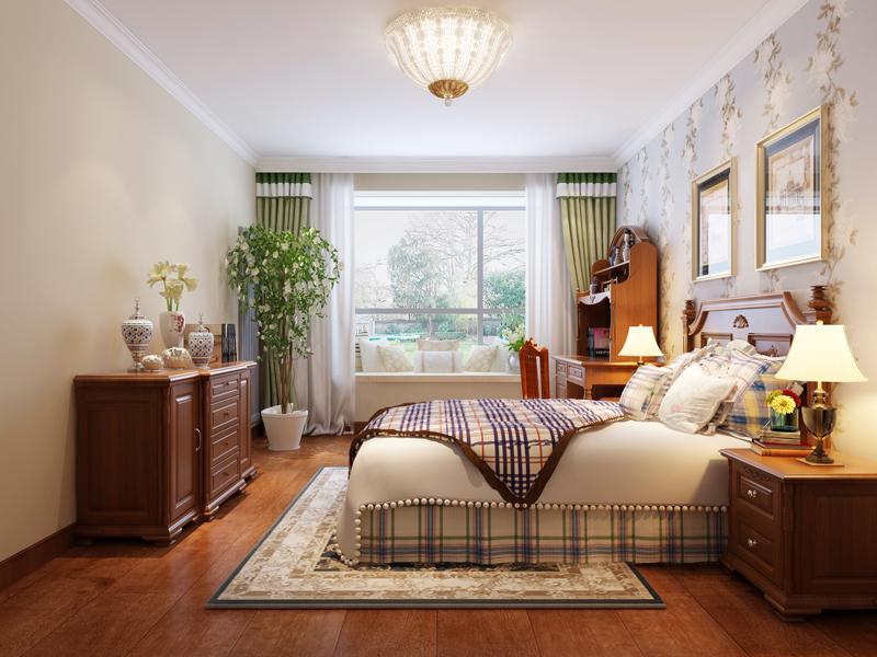 卧室图片来自业之峰装饰旗舰店在浓情摩卡的分享
