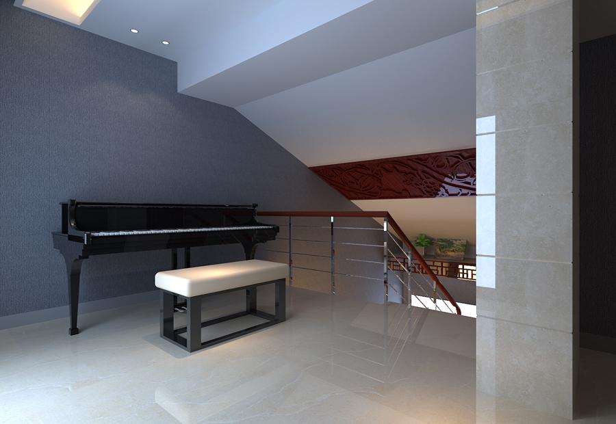 新中式 三居 别墅 收纳 旧房改造 80后 小资 白领 楼梯图片来自北京今朝装饰-慧琳在大兴区保利百合110平米中式的分享