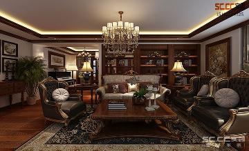 鲁商首府150平三居室美式装修