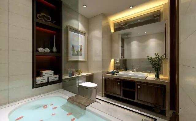 简约 中式 三居 卫生间图片来自实创装饰上海公司在当现代邂逅中式的分享