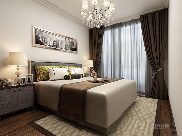 卧室使用咖色系的颜色显得卧室安静舒适