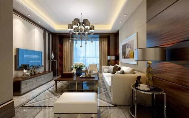 简约 中式 三居 客厅图片来自实创装饰上海公司在当现代邂逅中式的分享