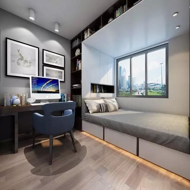 简约 中式 三居 卧室图片来自实创装饰上海公司在当现代邂逅中式的分享
