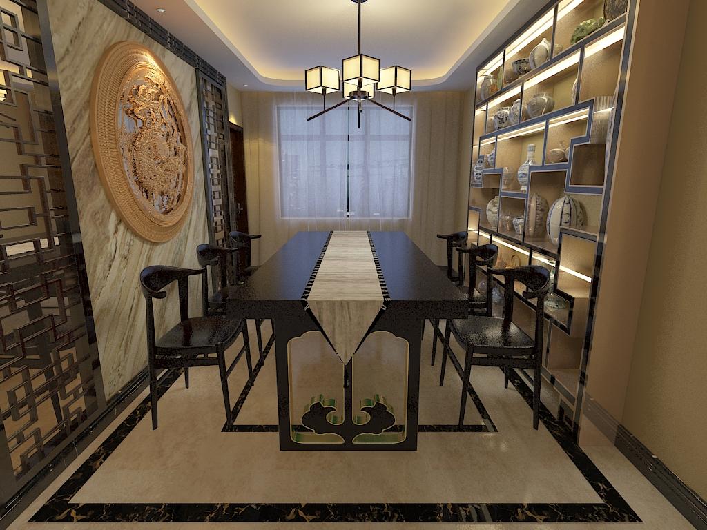 二居 三居 客厅 卧室 厨房 餐厅图片来自不再是筱孩在保利花园-140㎡-中式的分享