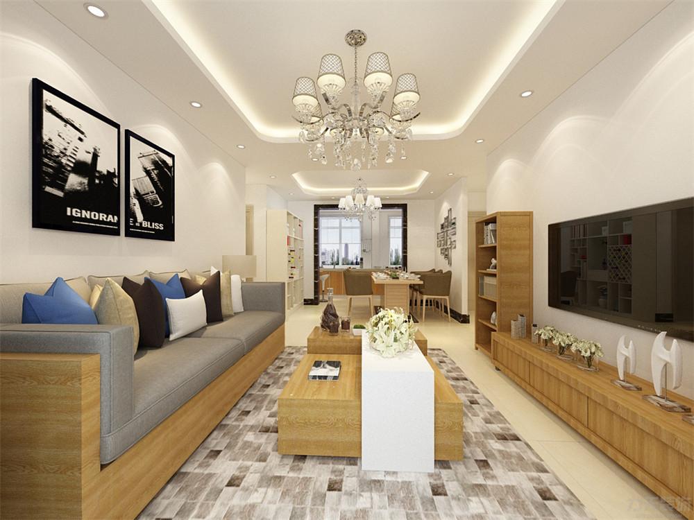 混搭 三居 收纳 小资 客厅图片来自阳光力天装饰在混搭风格-华侨城-137㎡的分享