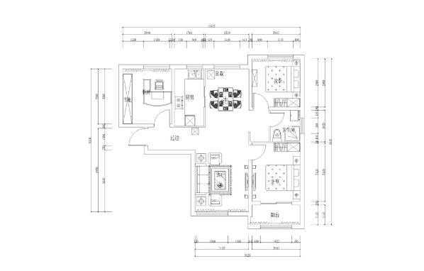 本户型为天津市金地艺境97.61平米的户型。