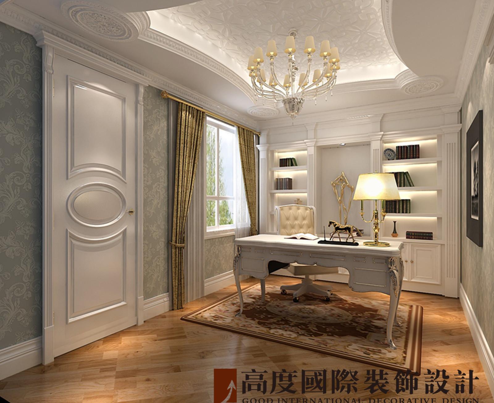 别墅 法式 联排 书房图片来自高度国际装饰宋增会在龙湖长桥墅300平米法式的分享