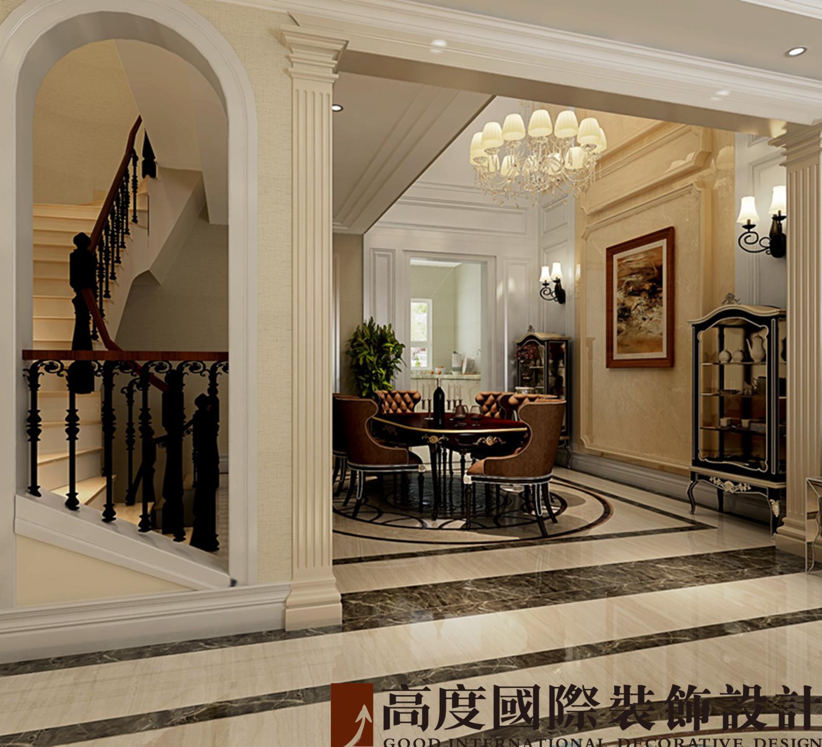 别墅 法式 联排 餐厅图片来自高度国际装饰宋增会在龙湖长桥墅300平米法式的分享