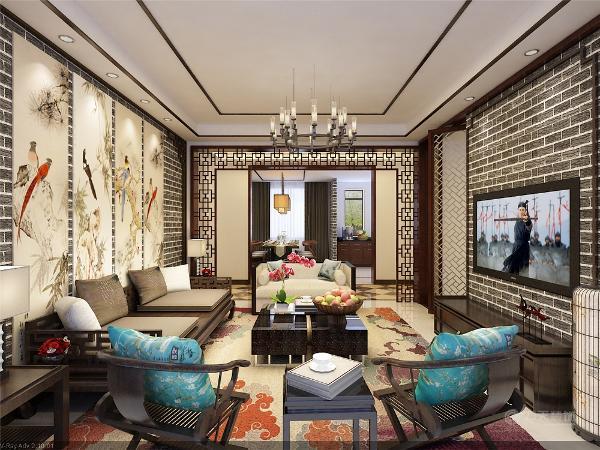 中式风格的要点:中国风的构成主要体现在传统家具(多为清明家具为主)装饰品及黑,红为主的装饰色彩上。室内多采用对称式的布局方式,格调高雅,造型朴素优美,色彩浓厚而成熟。