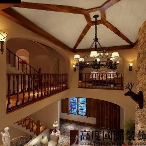 别墅 托斯卡纳 田园 楼梯图片来自高度国际装饰宋增会在远洋傲北410平米托斯卡纳的分享