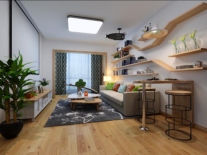 客厅图片来自业之峰装饰旗舰店在北欧风情的分享