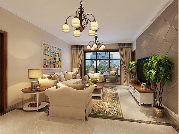 客厅:客厅是设计师和业主经过讨论后精心布置的。将客厅与门厅的位置进行功能的划分,保证动线的流畅。