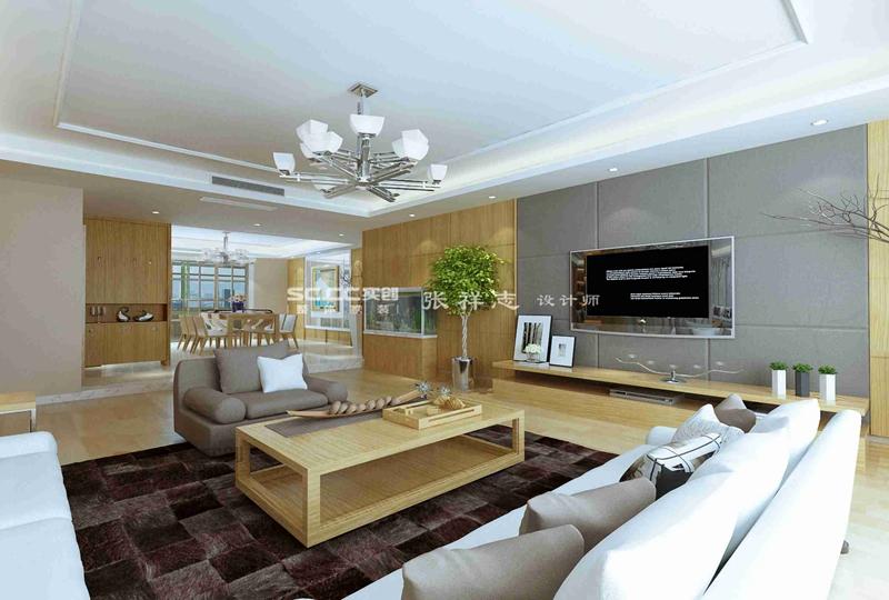 千禧龙苑 青岛装修 实创装饰 客厅图片来自实创装饰集团青岛公司在千禧龙苑190平装修的分享