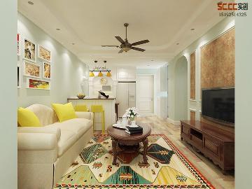 和达城上城85平二居室简美装修