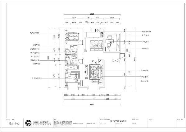 该户型中信公园城2室2厅2卫1厨 126.00㎡。