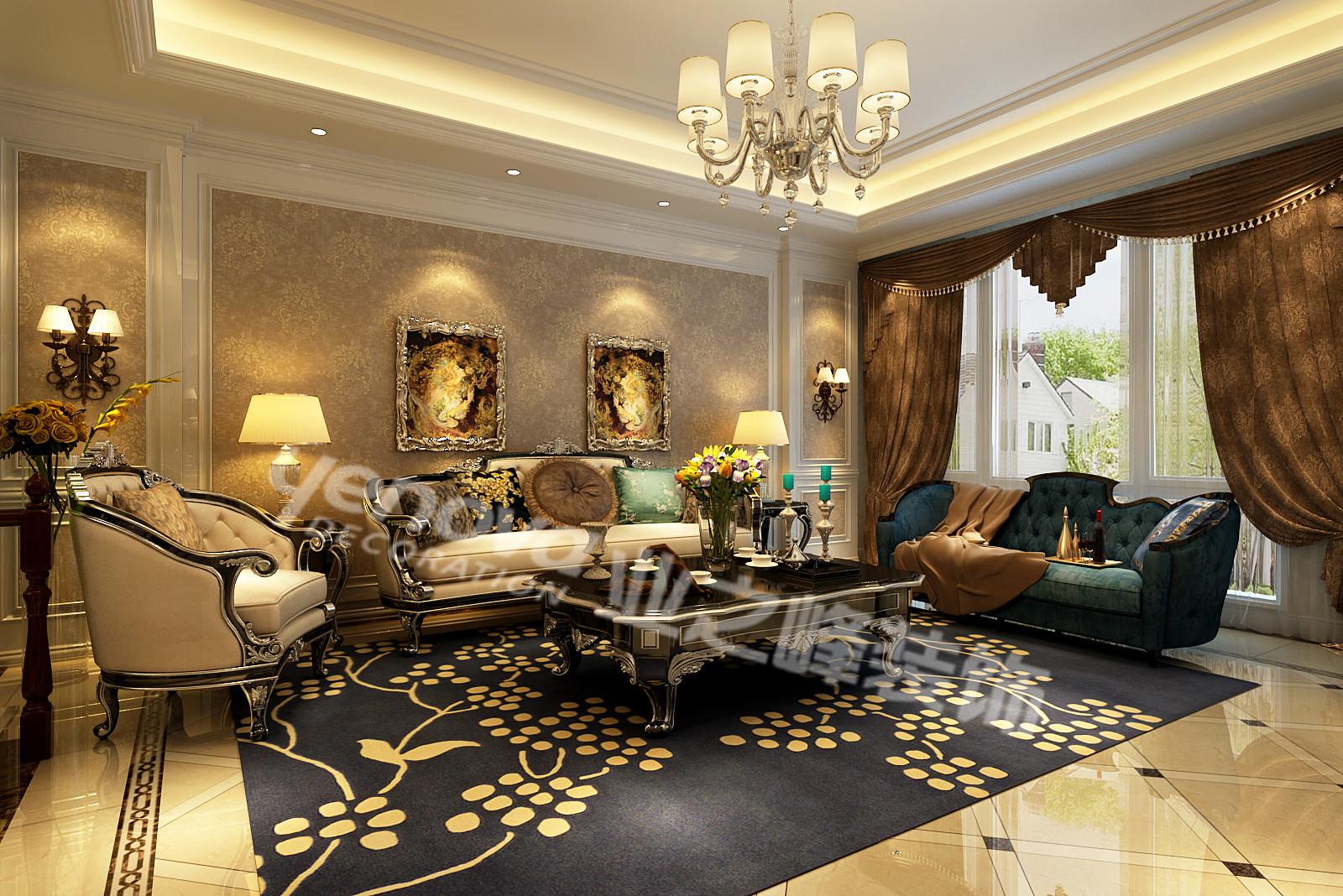 客厅图片来自青岛业之峰装饰--小娟在万科青岛小镇  欧式的分享