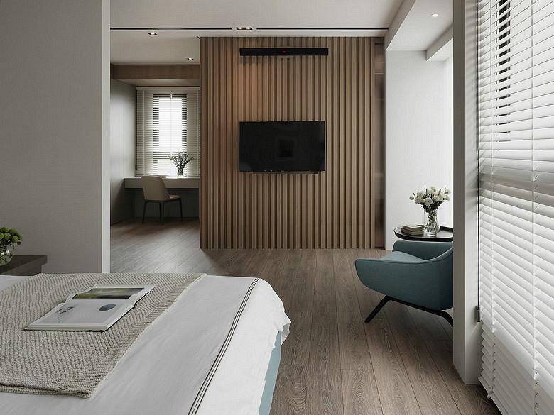 卧室图片来自家装大管家在轻松悠闲 145平现代简约时尚3居的分享