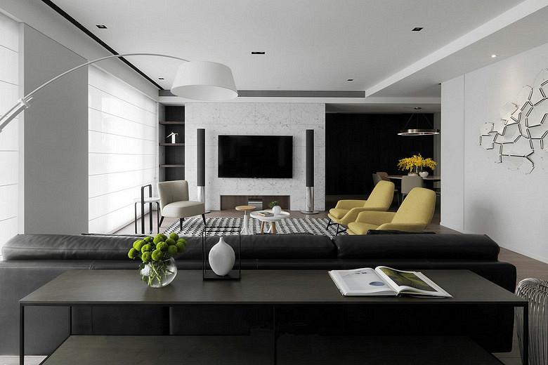 客厅图片来自家装大管家在轻松悠闲 145平现代简约时尚3居的分享