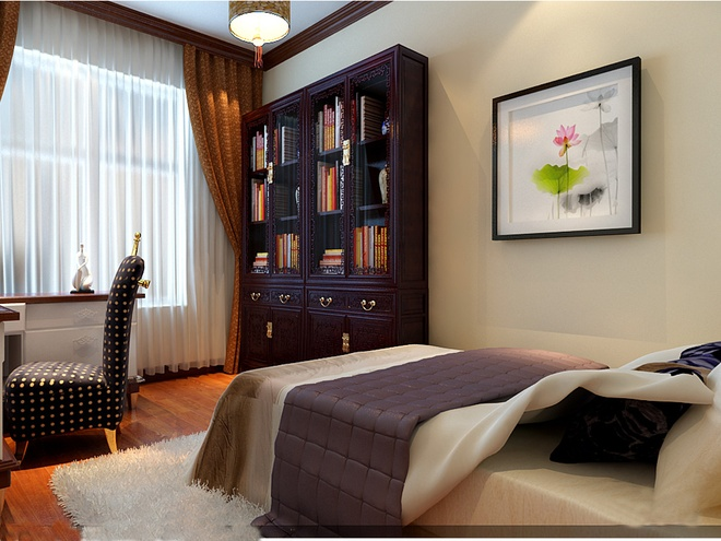 卧室图片来自武汉苹果装饰在苹果装饰 中大十里新城的分享