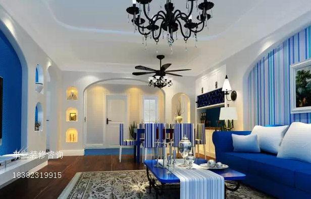 客厅图片来自成都丰立装饰工程公司在地中海效果-蓝光今双楠的分享