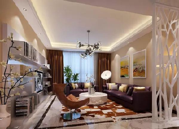 客厅是一个连接内外沟通感情的主要场所,是最能体现业主生活品味和情调的地方,设计通过颜色的整体搭配和独特的造型突出现代简约时尚的风格,