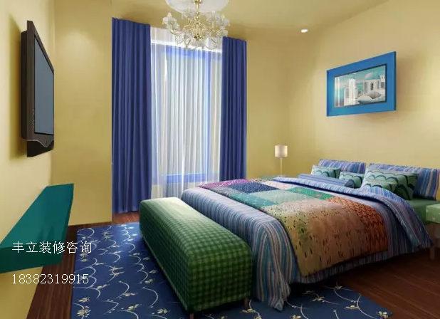 卧室图片来自成都丰立装饰工程公司在地中海效果-蓝光今双楠的分享
