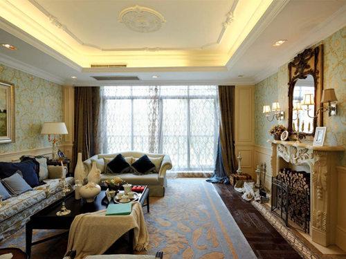 客厅图片来自武汉苹果装饰在苹果装饰 纽宾凯汉city国际社区的分享