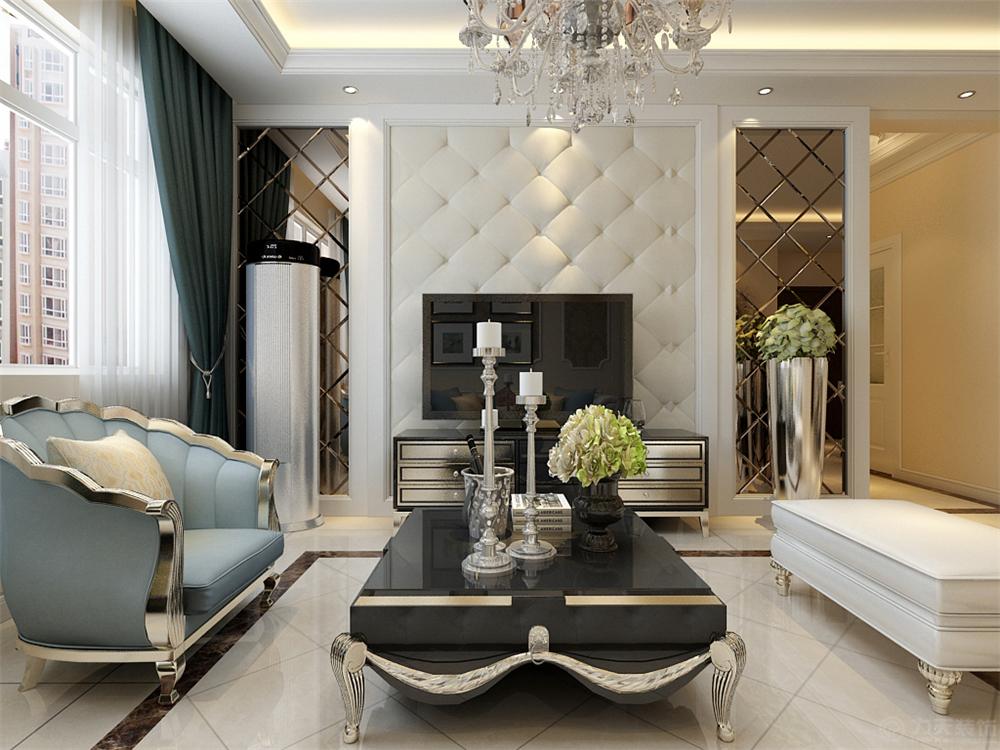 津南新城 欧式 客厅图片来自阳光放扉er在力天装饰-津南新城91㎡的分享