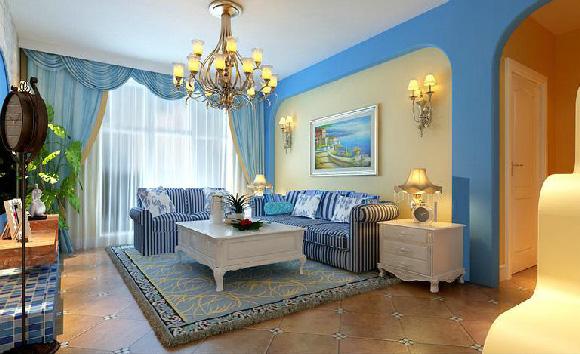 客厅图片来自武汉苹果装饰在苹果装饰 东原湖光里案例的分享