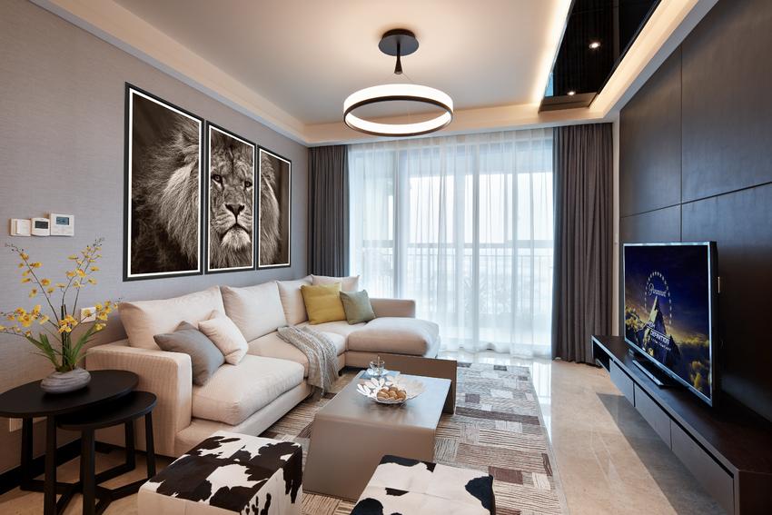 客厅图片来自武汉苹果装饰在苹果装饰 -世茂锦绣长江的分享