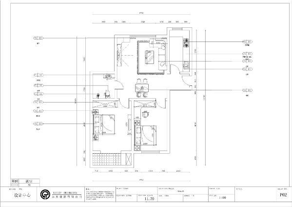 本案例为合景家园,两室一厅一厨一卫,97平米的户型,入户门进入是玄关的位置,玄关的右手边是厨房的位置,厨房为L型橱柜,布局合理,动线清晰