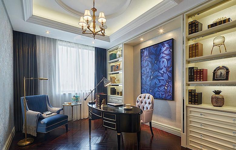 书房图片来自家装大管家在140平奢华欧式风格 富丽堂皇家园的分享