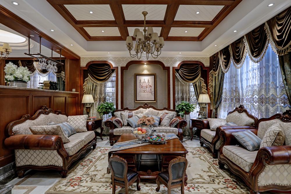 客厅图片来自爱尚易格装饰在爱尚易格美式豪宅设计的分享